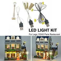 LED lighting set for LEGO 10243 Restaurant House City Expert Set Street R0S7