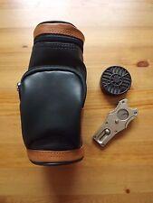 Golf Bag Humidor Gift Set Humidifier - Gold Golf Divot Tool with Cigar Cutter