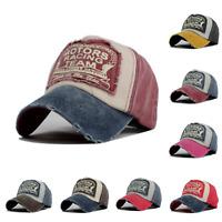 8x Summer Baseball Cap Trucker Adjustable Snapback Vintage Cotton Hat Men Women