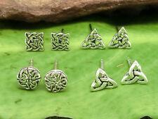 Keltischer Knoten Ohrstecker Silber 925 versch. Motive Kelten Ohrringe