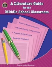 A Literature Guide for the Middle School Classroom paperback teacher resource