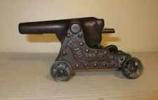 Antique 1890 Original Cast Iron Swamp Angel Toy Cap Cannon Ideal