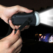 Outdoor Camping Portable Wind Up Emergency LED Flashlight FM Radio Hand Crank US