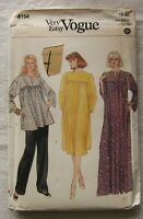 Vintage Caftan Dress Tunic Sewing Pattern*Vogue 8154*UNCUT/FF*Size Small*loose