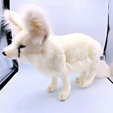 HANSA Standing White Artic Fox Plush Realistic NWT - MRSP  95.00 Fluffy Tail Toy