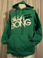 Billabong Hoodie Men's Green Long Sleeve All Over Spell Out Hooded Sweatshirt M
