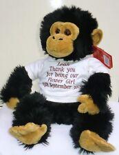 Personnalisé nounours grand singe fiançailles anniversaire anniversaire chimpanzé cadeau