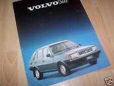 VOLVO 340 & 360 Dépliant pub / Folder / Brochure 1983 //