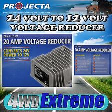 PROJECTA 20 AMP VOLTAGE REDUCER COVERTS 24 VOLT TO 12 VOLT TRUCK CAR RADIO VR020