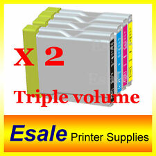 8 x LC37 INK Brother DCP-135C MFC-260C LC-37 High Yield