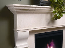 Edinborough Fireplace Mantel (mantle) Surround Cast Stone non-combustible