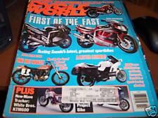 Cycle World February 1991 GSX-R1100 Honda Nighthawk 750