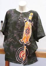 40 42 T Shirt Bluse handbemalte Unikate wie Seide Aborigines AUSTRALIEN Echse