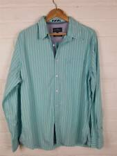 Blue Harbour Blue Striped Long Sleeved Shirt Size L