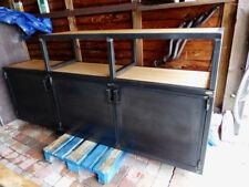 Buffet industriel en escalier bois mètal sur mesure