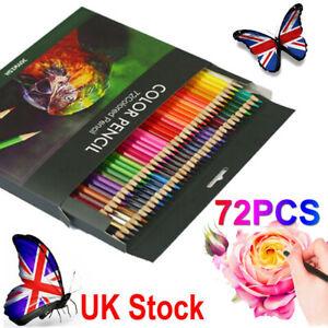 72PCS Professional Sketching Drawing Set Artist Pencils Set Colouring Art Kit UK