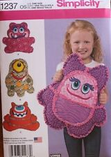 "RAG QUILT ""MONSTER PILLOW'S"" Childs * Simplicity Pattern 1237/482 * 4 Variations"
