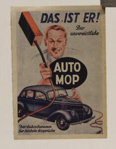 OLDTIMER Werbung Reklame AUTO MOP 1935 Kraftwagen Gräfenroda THÜRINGEN
