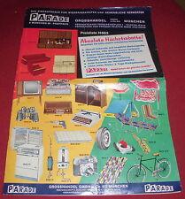 dachbodenfund prospekt katalog ek preisliste heft  parade gross handel ca 1963