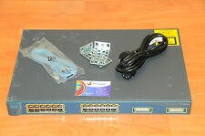 CISCO WS-C3524-PWR-XL-EN Switch w/ 24xFE PoE + rack kits 6MthWtyTaxInv