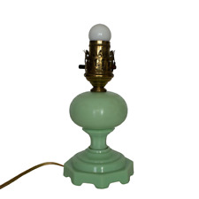"Vintage Jadeite lamp Octagonal Base 9"" X 4"""
