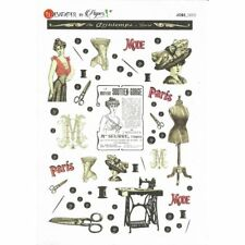 Papier de riz 16x22 cm Couture Vintage Decoupage Collage Scrapbooking Carterie