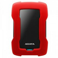 ADATA HD330 2TB USB 3.1 Shock-Resistant Extra Slim External Hard Drive Red
