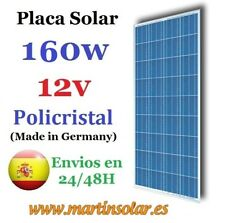 Placa panel solar 160w 12v , panel solar Policristalino.