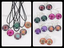 12 PC Aztec Double Sided Glass Fashion Necklace/Earrings Wholesale Jewelry - USA