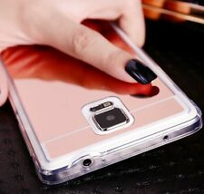 For Samsung Galaxy Note 3 - Hard Gummy Rubber Case Cover TPU MIRROR ROSE GOLD