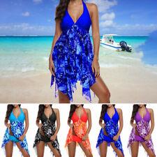 Women's Tankini Swim Dress Swimsuit Beachwear Swimwear Bathing Suit Plus Size US