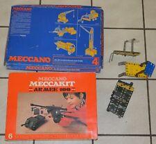 LOT Jouet Construction MECCANO N 4 MECCAKIT ARMEE 100 mécanique vintage