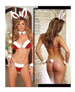 NOVELTY  ADULT XMAS BUNNY GIRL COSTUME GREAT CHRISTMAS GIFT