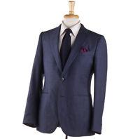 NWT $1700 BOGLIOLI 'Alton' Slate Blue Mini Check Wool Suit Slim 40 R (Eu 50)