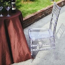4 Clear 36-Inch tall Acrylic Transparent Chiavari Chairs Wedding Decorations