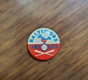 Vintage 1966 Baltimore Orioles Button Pin Guy's Potato Chips Baseball Offer