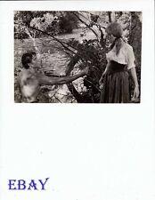 Barechested man Michele Mercier VINTAGE Photo Angeliques, Marquise Des Anges