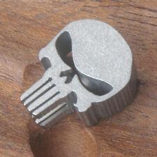 EDC Lanyard Punisher Skull Titanium Jewelry Parachute Cord Bead Pendant CFZ6-Ti