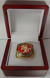 Colin Kaepernick - 2012 San Francisco 49ers NFC Championship Ring W Wooden Box