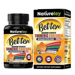 Organic Turmeric 95% Curcuminoids 1950mg with Black Pepper Extract - 90 Caps