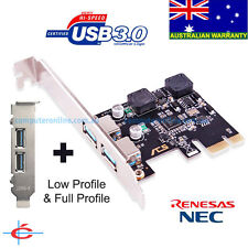 Low Profile & Full Profile USB 3.0 PCI-E 2 Ports Card, NEC Chipset, Self Powered