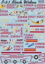 Print Scale 72-036 1/72 Northrop P-61 Black Widow Decals