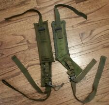 US Military Issued Set of OD Green LC-1 LC-2 Alice Back Pack Shoulder Straps