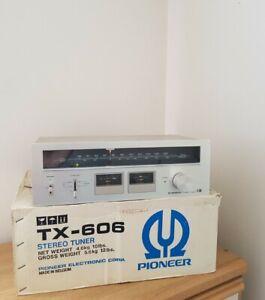 Vintage Hifi Stereo AM-FM Tuner Pioneer TX - 606