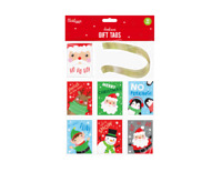 50  Christmas Gift Tags Label Xmas Party Present Wrapping santa penguin snowman