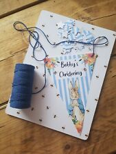 Personalised Peter Rabbit Flopsy Bunting Banner Party Birthday Christening