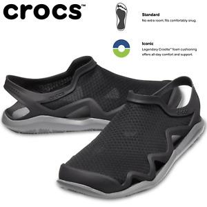 Crocs Men's Swiftwater Mesh Wave Clogs Sandals Slides River Waterproof - Black