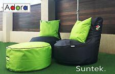 Resort Style Bean Bags 3 piece set indoor outdoors durable water resistant Adora