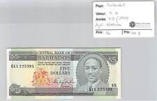 Ticket Barbados - 5 Dollars (1975) - Signed Blackman