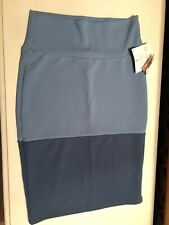 Lularoe Cassie Pencil Skirt Two-Tone Blue Size SMALL
